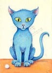 ACEO Blue Kitten Simba by Diane Young