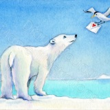 Valentine's ACEO of a polar bear by artist Diane Young