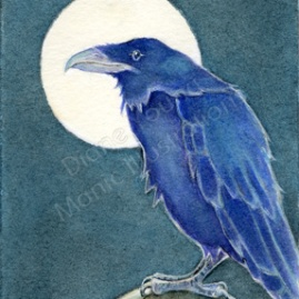 Raven Nevermore painting by Diane Young
