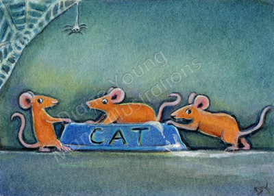 Mice at halloween Painting by Diane Young