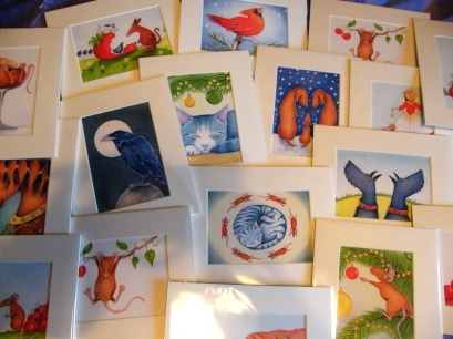 Prints for sale of original paintings of animals  by artist  Diane Young of Stroud UK