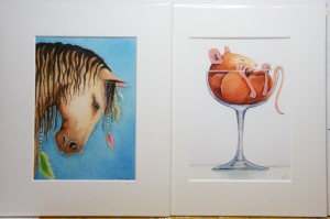 Prints of animals for sale by Diane Young horses dogs cats mice harvey the aardvark