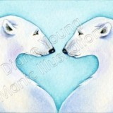Love Polar Bears painting by Diane Young available as a Commission Me This Design