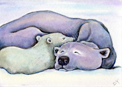 Polars Keep Baby Warm painting by Diane Young available as a Commission Me This Design
