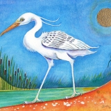 ORIGINAL FOR SALE MOUNTED White Ibis