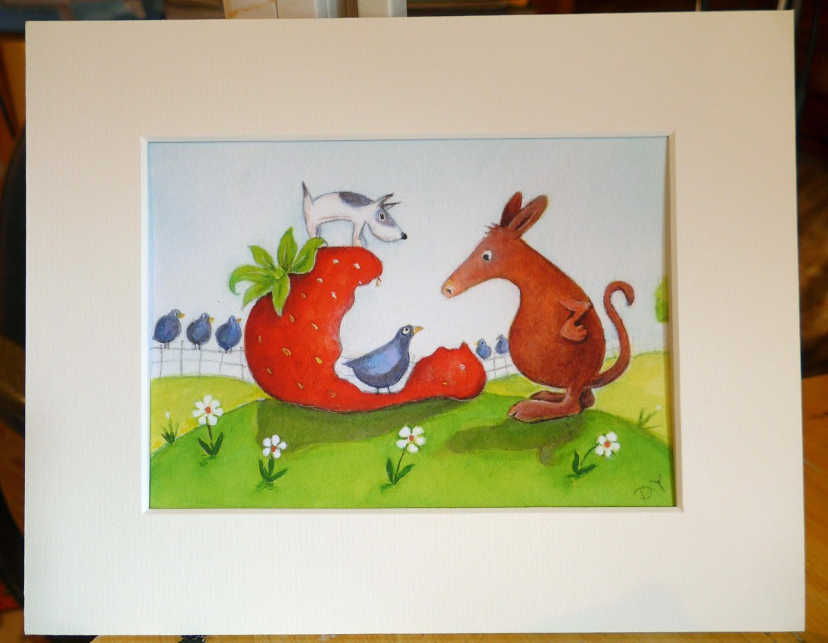 It wasnt me 7 x 5 print in mount by Diane Young