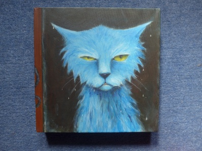 Left Outside - Cat in the Rain painting on canvas by Diane YOung