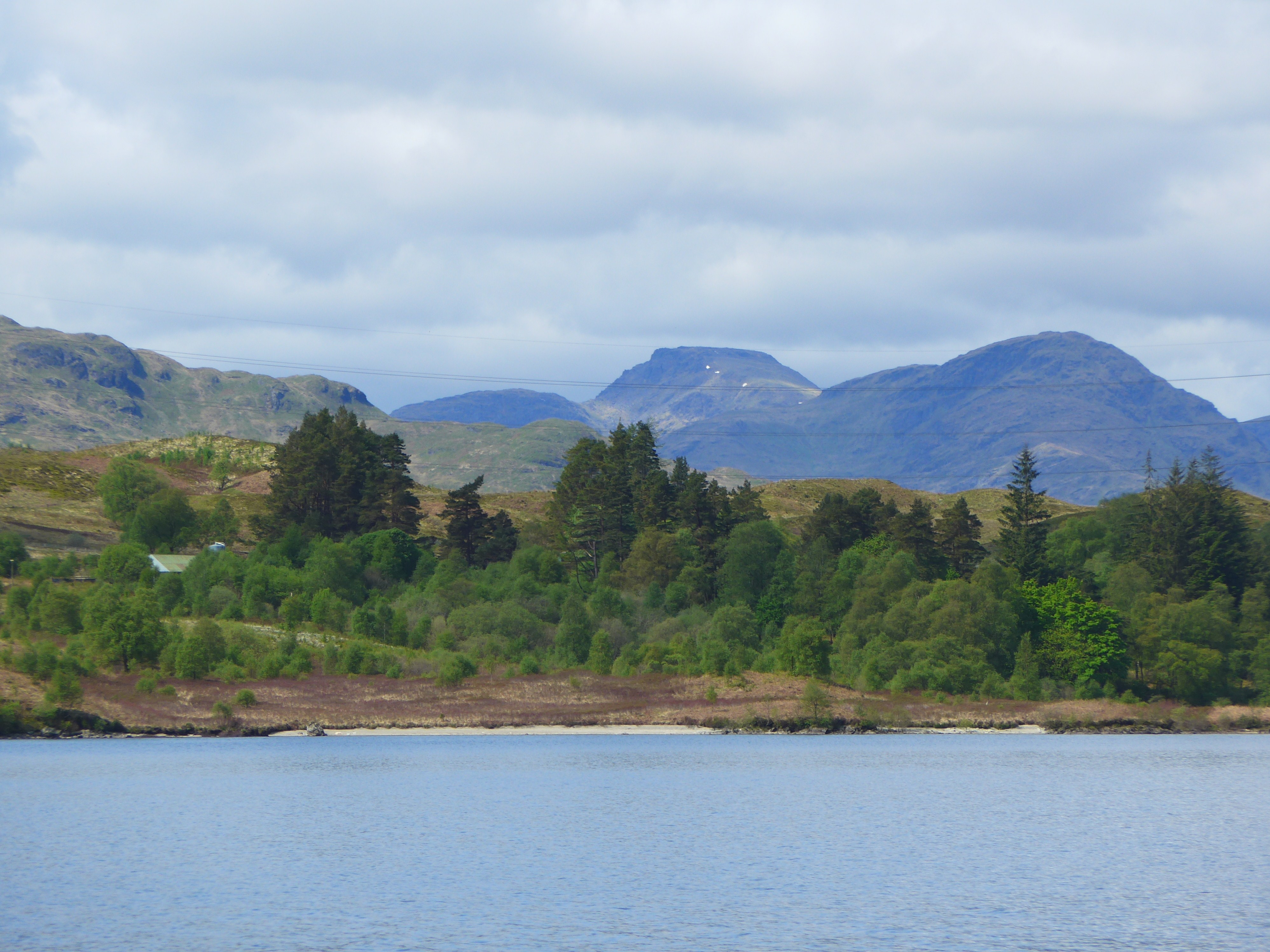 Mountains and Loch Katrine photo by Diane Young Artist at stroud