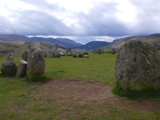 Stone Circle at Castlerigg near Keswick photograph by Artist Diane Young Stroud Manic Illustrations