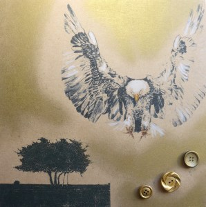 Eagle Painting Print by animal artist Diane Young