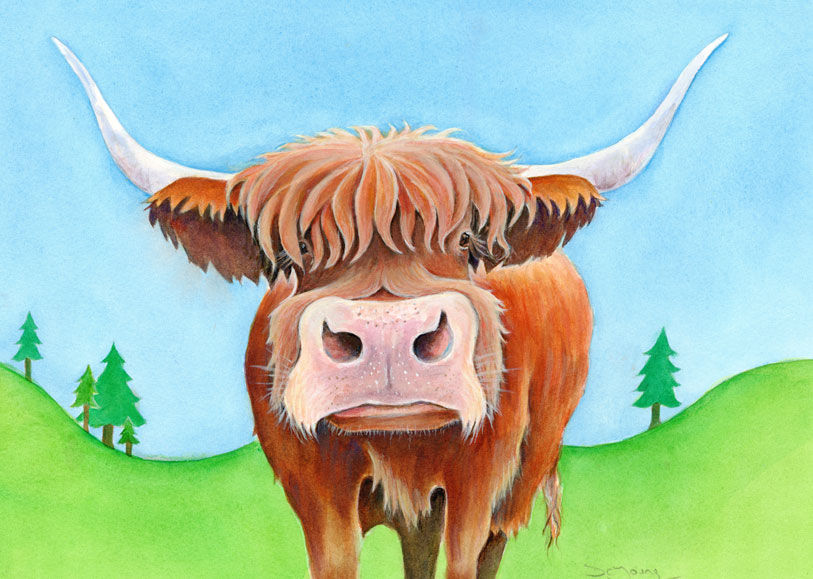 Highland Cow Painting by artist Diane Young