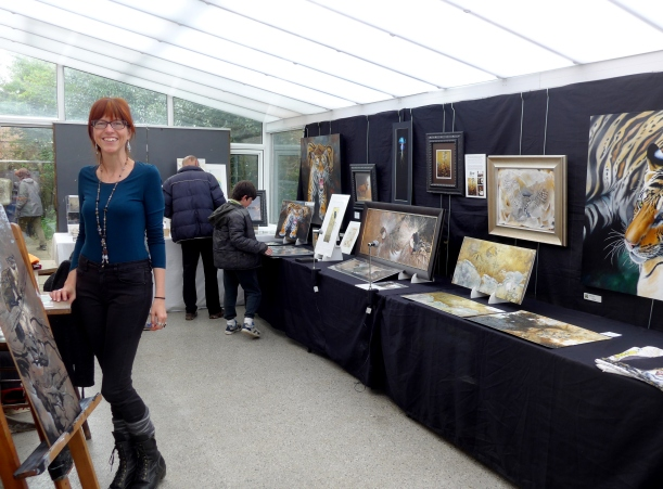 Photo of artist in residence Claudia Hahn at Nature in Art Glos