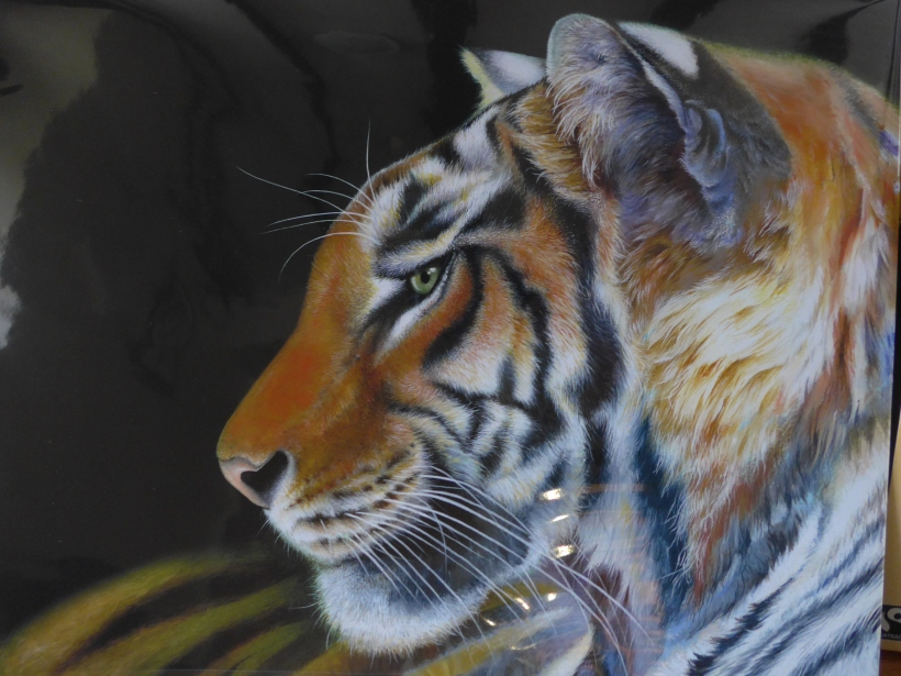 Print by Claudia Hahn of a Tiger