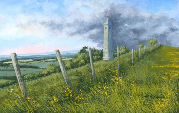 Painting of the Tyndale Monument by Artist Claire Failes