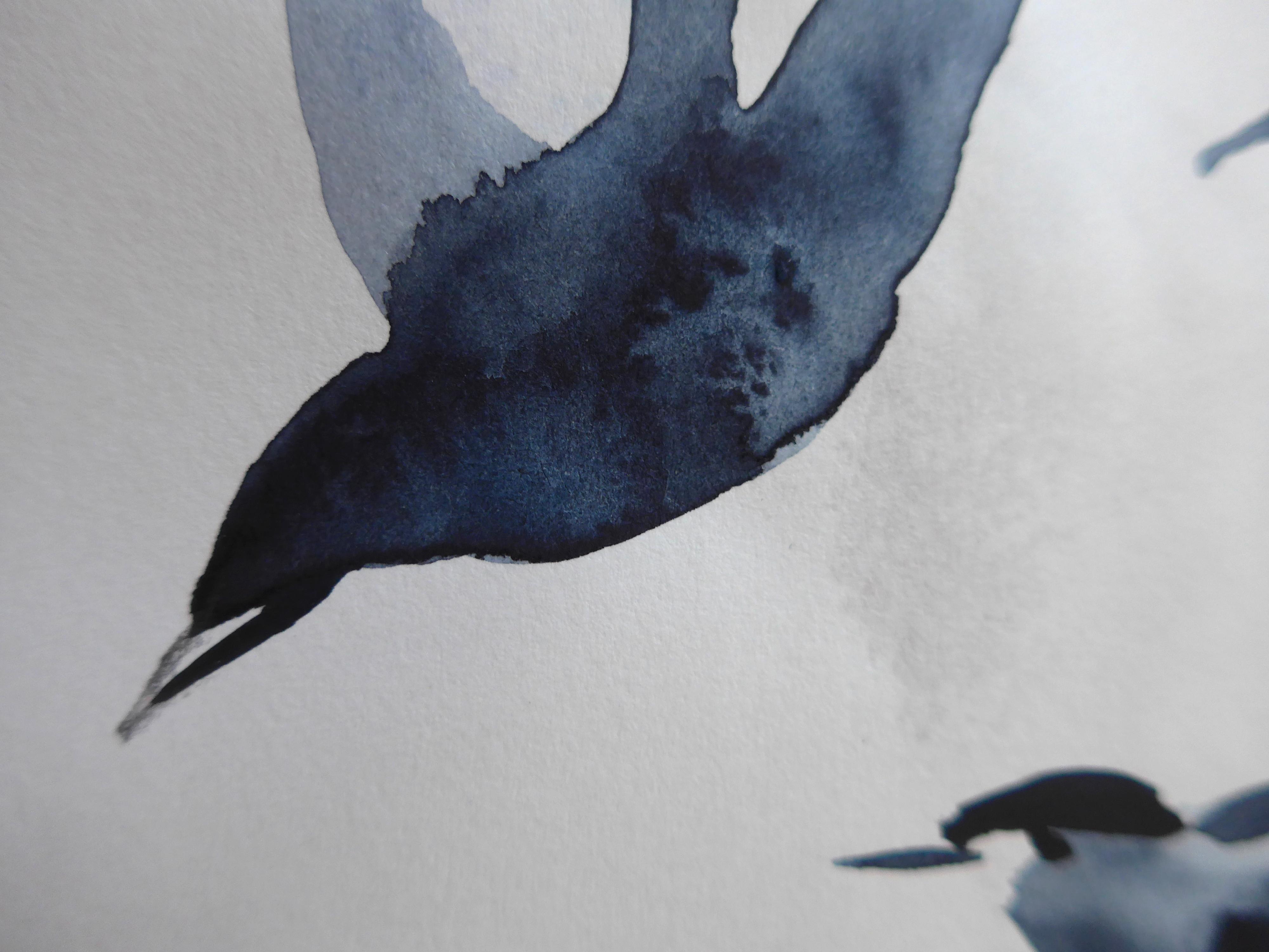 Birds with Chinese Brush (3)