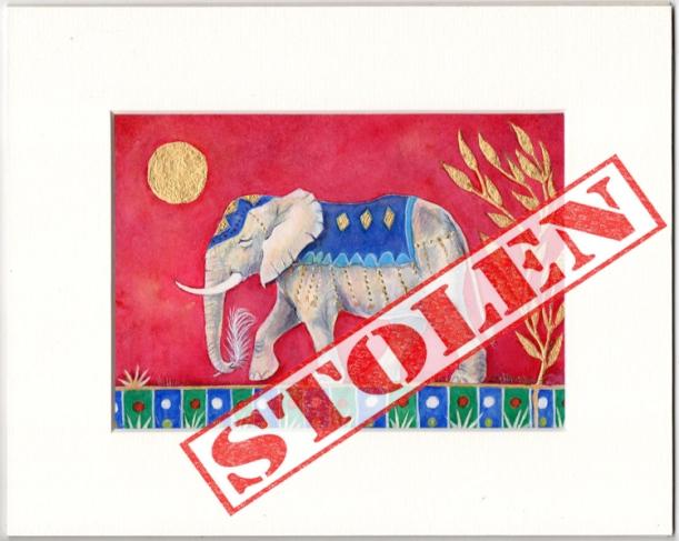 Stolen Elephant Print