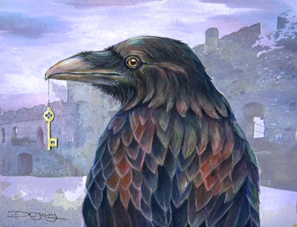 raven castle diane young gothic images painting digital