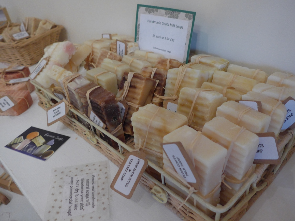 Hand made soap at the Cotswold Craftsmen Gallery