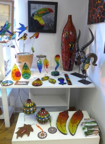 Gifts glass and mosaics at the Pottery at the Cotswold Craftsmen Gallery in Nailsworth