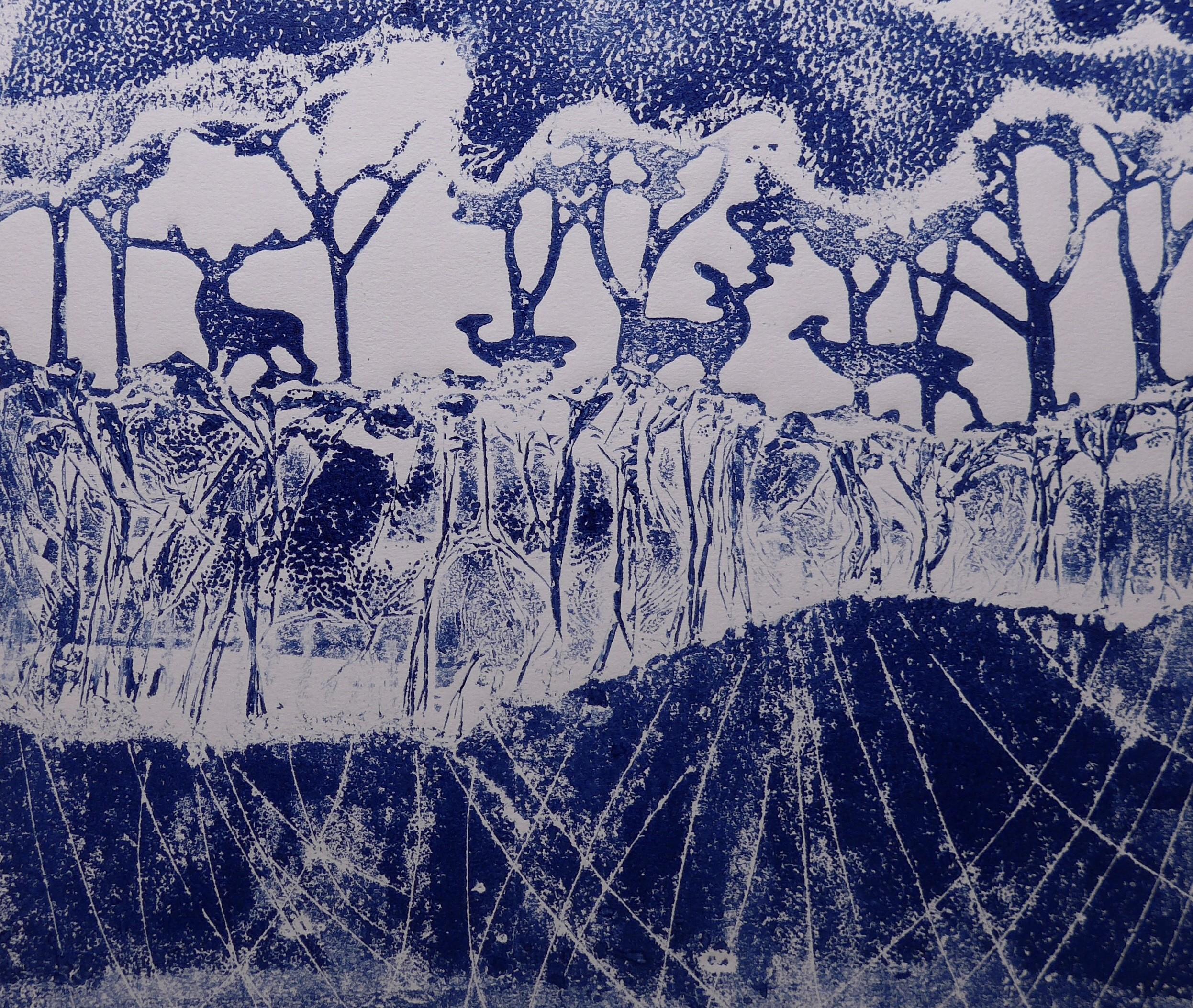 Deer in Wood Print tests (2)