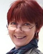 Photo of Diane Young artist printmaker in Stroud
